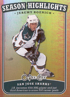 2008-09 O-Pee-Chee Season Highlights #SH8 Jeremy Roenick