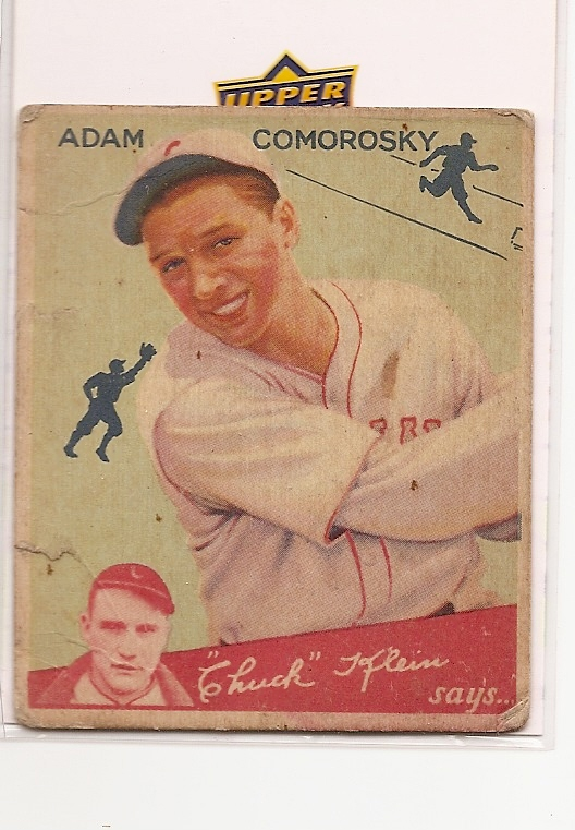 1934 Goudey #85 Adam Comorosky CK front image
