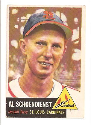1953 Topps #78 Red Schoendienst