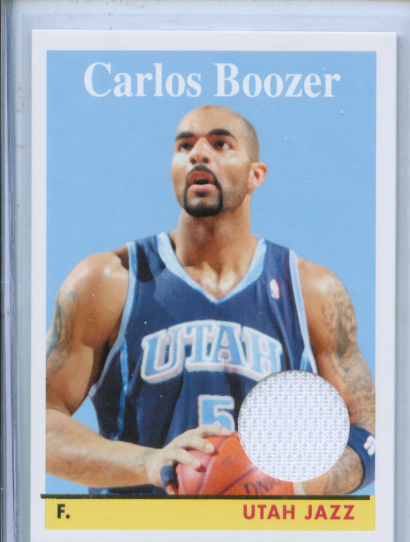 2008-09 Topps 1958-59 Variations Relics Gold #8 Carlos Boozer