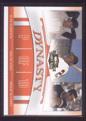 2008 Donruss Threads Dynasty #3 Juan Marichal/Willie Mays/Willie McCovey