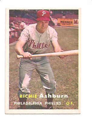 1957 Topps #70 Richie Ashburn