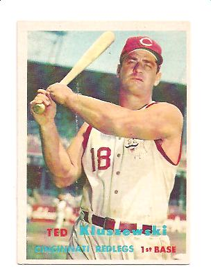 1957 Topps #165 Ted Kluszewski