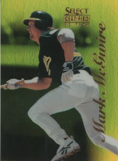 1996 Select Certified Mirror Gold #20 Mark McGwire front image