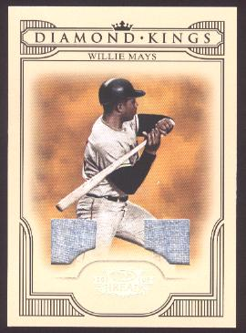 2008 Donruss Threads Diamond Kings Materials #46 Willie Mays/50