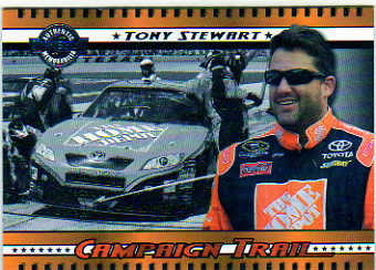 2008 Wheels American Thunder Campaign Trail #CT10 Tony Stewart