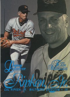 1997 Flair Showcase Legacy Collection Row 2 #8 Cal Ripken
