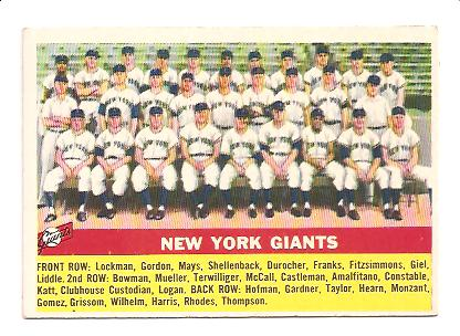 1956 Topps #226 Giants TC EX+ Actual scan