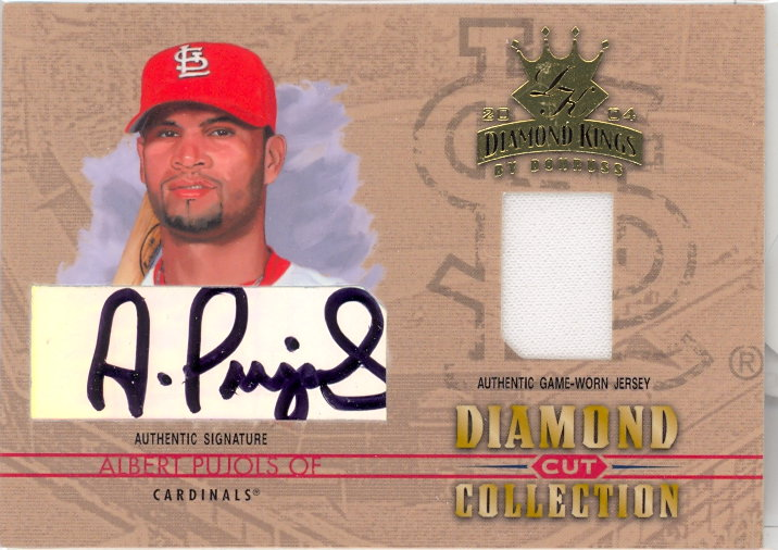2004 Diamond Kings Diamond Cut Combos Signature #9 Albert Pujols Jsy/5