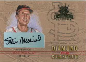 2004 Diamond Kings Diamond Cut Signatures #47 Stan Musial/6