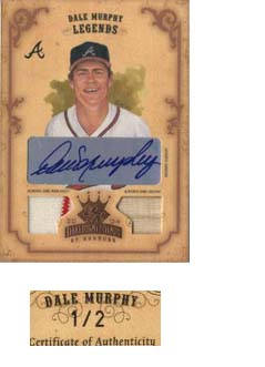 2004 Diamond Kings DK Combos Bronze #159 Dale Murphy LGD Bat-Jsy/2