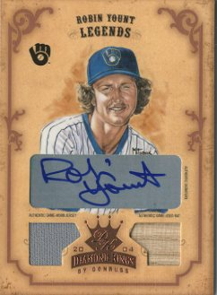 2004 Diamond Kings DK Combos Bronze #164 Robin Yount LGD Bat-Jsy/2
