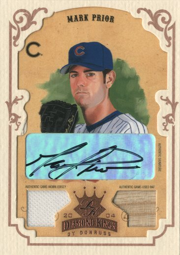 2004 Diamond Kings DK Combos Framed Bronze #36 Mark Prior Bat-Jsy/5