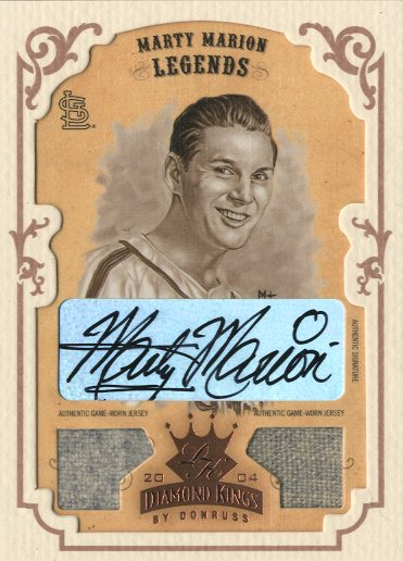 2004 Diamond Kings DK Combos Framed Bronze Sepia #162 Marty Marion LGD Jsy-Jsy/5