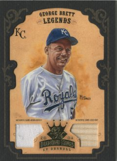 2004 Diamond Kings DK Materials Framed Gold #167 George Brett LGD Bat-Jsy/5