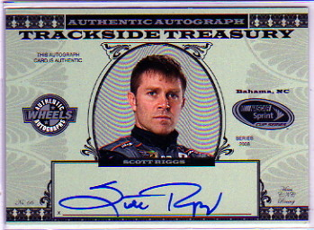 2008 Wheels American Thunder Trackside Treasury Autographs #SR Scott Riggs