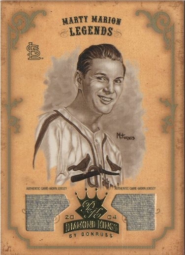 2004 Diamond Kings DK Materials Gold Sepia #162 M.Marion LGD Jsy-Jsy/3