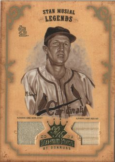 2004 Diamond Kings DK Materials Gold Sepia #173 Stan Musial LGD Bat-Jsy/3