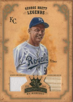 2004 Diamond Kings DK Materials Gold #167 George Brett LGD Bat-Jsy/5