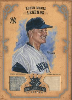 2004 Diamond Kings DK Materials Silver #170 Roger Maris LGD Bat-Jsy/6