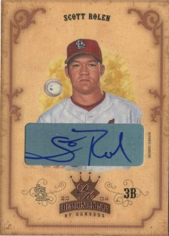 2004 Diamond Kings DK Signatures Bronze #104 Scott Rolen/2