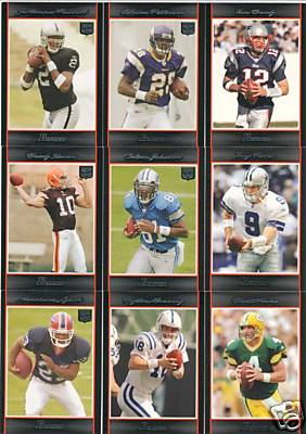 2007 Bowman Football Complete Set (1-275) (Includes Rookie Cards for Adrian Peterson, Brady Quinn, Trent Edwards, Jamarcus Russell, Calvin Johnson + 160 other Rookies)