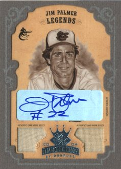 2004 Diamond Kings DK Combos Framed Platinum Grey Sepia #166 Jim Palmer LGD Jsy-Jsy