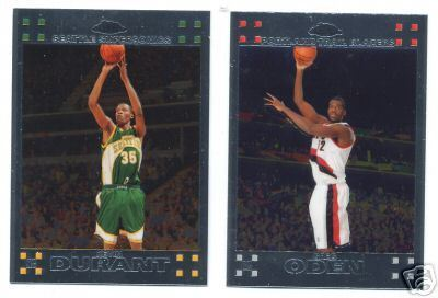 2007-08 (2008) Topps Chrome Basketball Complete Set (1-160)  (Includes Kevin Durant & Greg Oden + 48 other Rookie Cards)