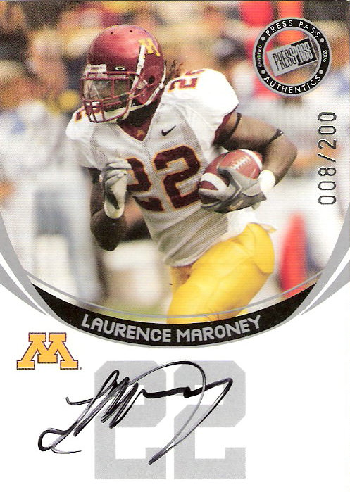 2006 Press Pass Autographs Silver #45 Laurence Maroney