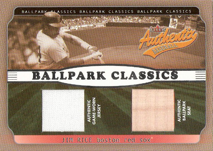 2002 Fleer Authentix Ballpark Classics Memorabilia #JR Jim Rice Jsy SP/487