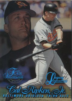 1997 Flair Showcase Legacy Collection Row 1 #8 Cal Ripken