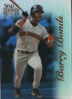 1996 Select Certified Mirror Blue #31 Barry Bonds front image