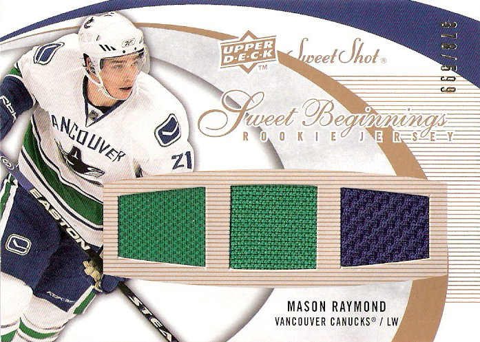2007-08 Sweet Shot #131 Mason Raymond JSY RC