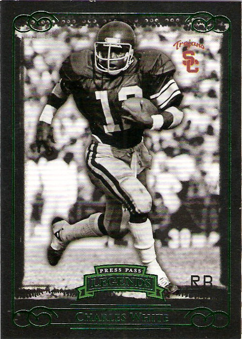 2008 Press Pass Legends Emerald #92 Charles White