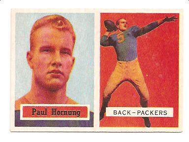 1957 Topps #151 Paul Hornung RC