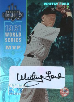 2003 Donruss Champions Autographs #180 Whitey Ford/10