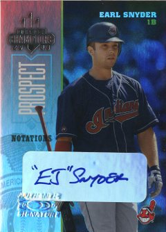 2003 Donruss Champions Autographs Notation #79 Earl Snyder/1