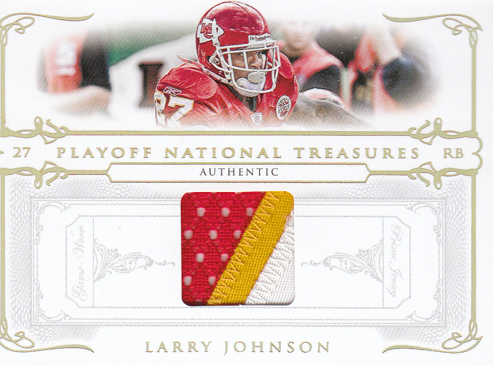 2007 Playoff National Treasures Material Prime #19 Larry Johnson