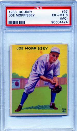1933 Goudey #97 Joe Morrissey RC