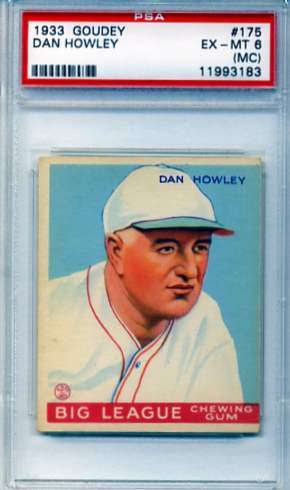 1933 Goudey #175 Dan Howley MG RC