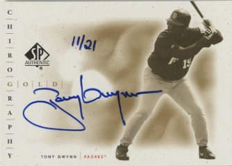 2001 SP Authentic Chirography Gold #GTOG Tony Gwynn/21
