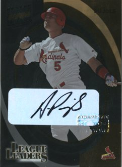 2002 Donruss Best of Fan Club League Leaders Autographs #LL26 Albert Pujols Hits/100