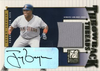 2002 Donruss Elite Throwback Threads Autographs #46 Tony Gwynn/10