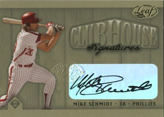 2002 Leaf Clubhouse Signatures Gold #30 Mike Schmidt