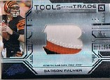 2008 Absolute Memorabilia Tools of the Trade Material Oversize Team Logo Black #3 Carson Palmer
