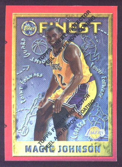 1995-96 Finest Refractors #252 Magic Johnson 6P