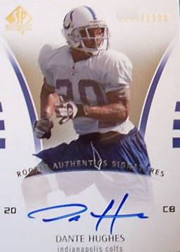 2007 SP Authentic #213 Daymeion Hughes AU RC