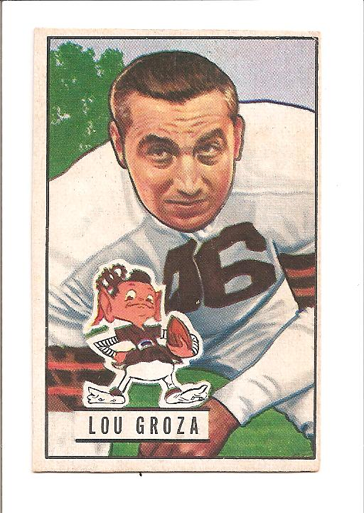 1951 Bowman #75 Lou Groza front image