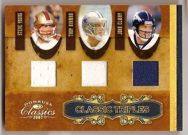 2007 Donruss Classics Classic Triples Jerseys #9 Troy Aikman/John Elway/Steve Young