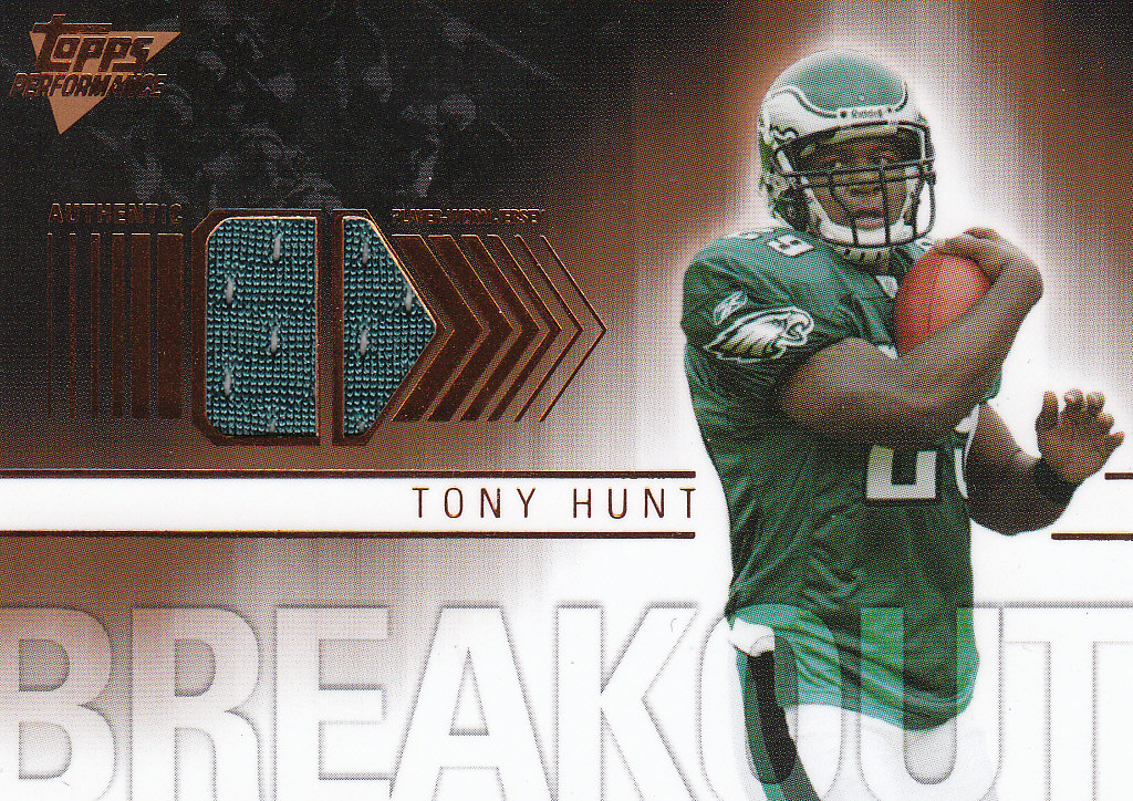 2007 Topps Performance Breakout Relics Bronze #BRTH Tony Hunt